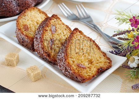 Homemade Cake With Raisins
