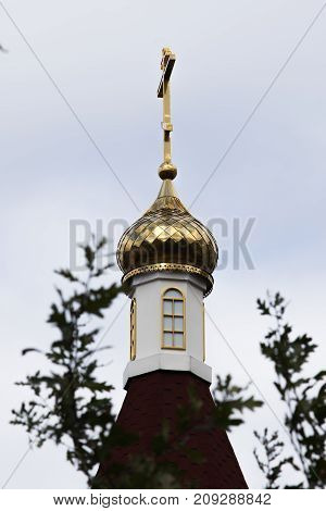 dome of christian orthodox temple against the sky