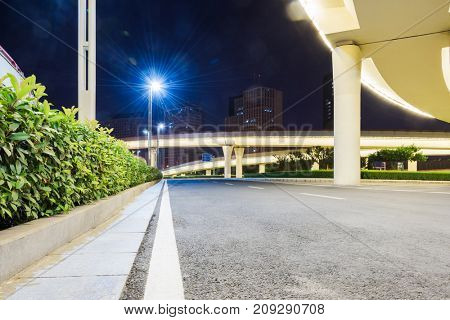 empty elevated road,shanghai,china.