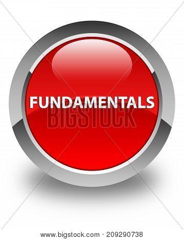 Fundamentals Glossy Red Round Button