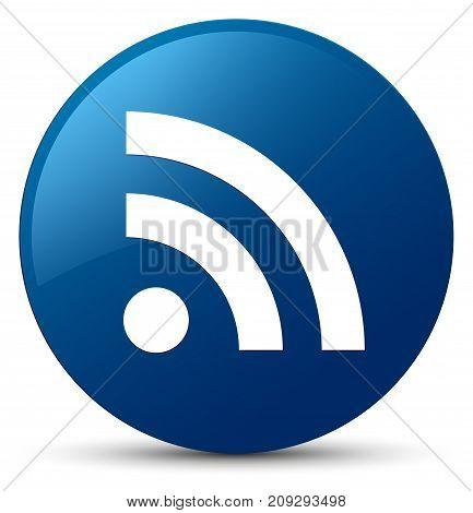 Rss Icon Blue Round Button
