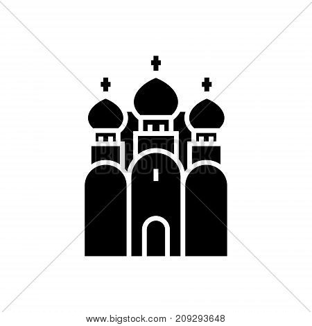 church christianity - Russian Orthodox Church icon, illustration, vector sign on isolated background