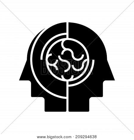 collective opinion - thinking icon, illustration, vector sign on isolated background