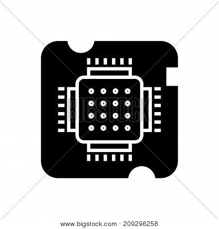 cpu socket - chip icon, illustration, vector sign on isolated background