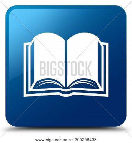 Book Icon Blue Square Button