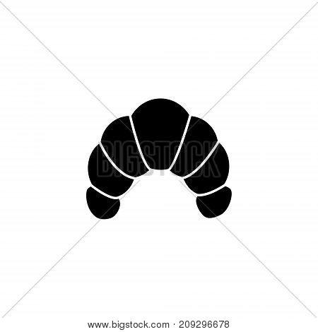 croisant icon, illustration, vector sign on isolated background