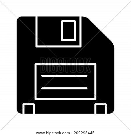 diskette icon, illustration, vector sign on isolated background