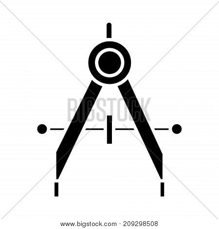 dividers icon, illustration, vector sign on isolated background