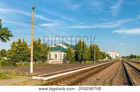 Dmitriyev-Lgovsky, a railway station in Kursk Region of Russia, Moscow railroad
