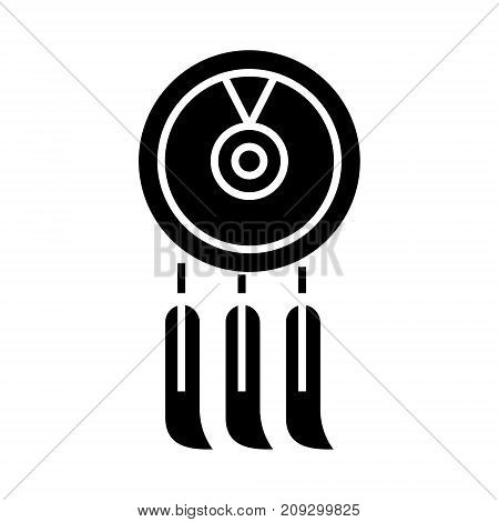 dreamcatcher icon, illustration, vector sign on isolated background