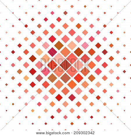 Abstract colored square pattern background - geometrical vector graphic from diagonal squares in red tones