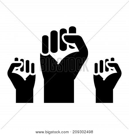 fighting for rights - freedom icon, illustration, vector sign on isolated background