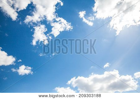 Sky clouds, sky with clouds and sun