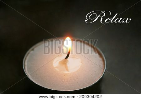 Meditation Candle With Relax Stock Photo High Quality