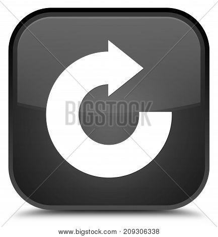 Reply Arrow Icon Special Black Square Button