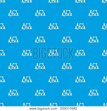 Magnifying glass searching people in simple style isolated on white background vector illustration