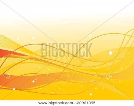 abstract yellow wave, stripes background, vector illustration