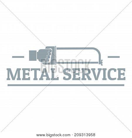 Metal company logo. Vintage illustration of metal company vector logo for web