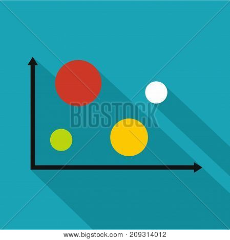 Finance diagram icon. Flat illustration of diagram vector icon for any web design
