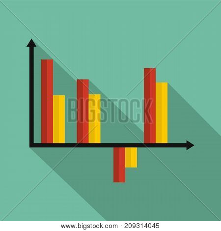 Business diagram icon. Flat illustration of diagram vector icon for any web design