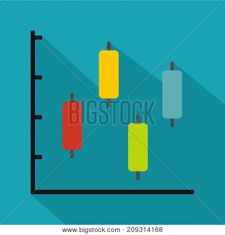New diagram icon. Flat illustration of diagram vector icon for any web design