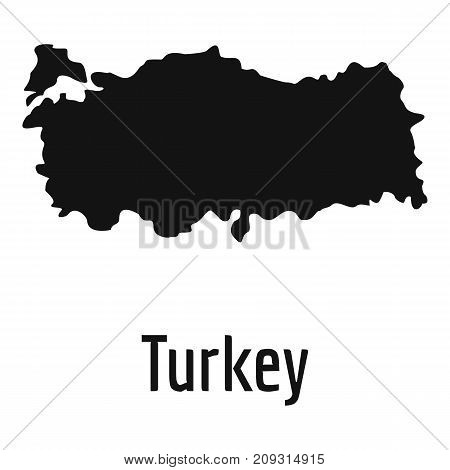 Turkey map in black. Simple illustration of Turkey map vector isolated on white background