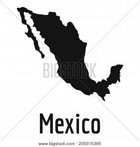 Mexico map in black. Simple illustration of Mexico map vector isolated on white background