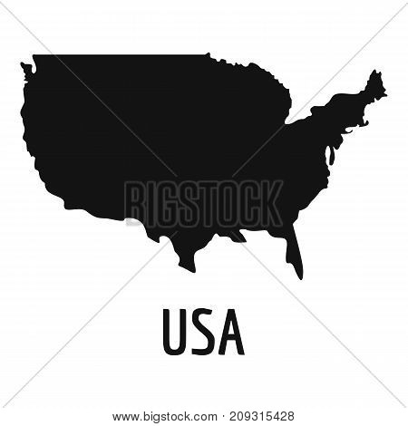 USA map in black. Simple illustration of USA map vector isolated on white background