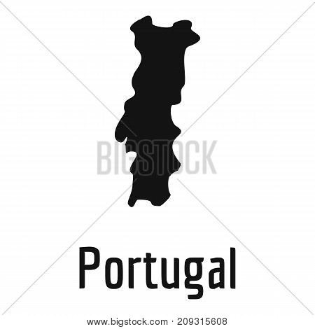 Portugal map in black. Simple illustration of Portugal map vector isolated on white background