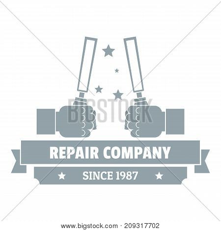 Repair company logo. Vintage illustration of repair company vector logo for web