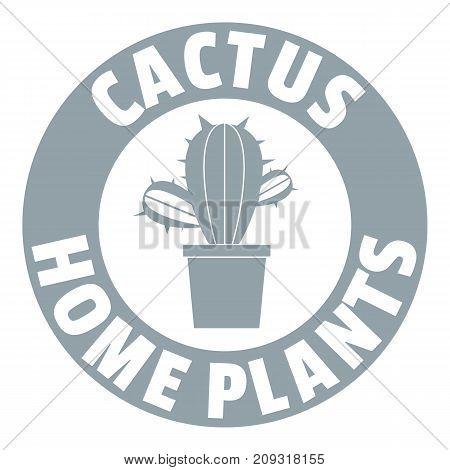 Botanical cactus logo. Simple illustration of botanical cactus vector logo for web
