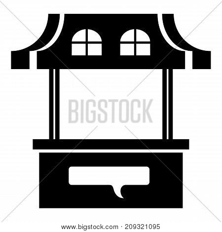 Stall icon. Simple illustration of stall vector icon for web