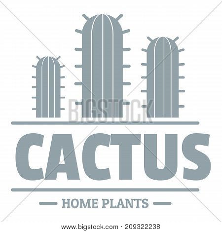 Botany cactus logo. Simple illustration of botany cactus vector logo for web