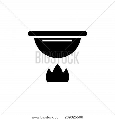 fondue icon, illustration, vector sign on isolated background