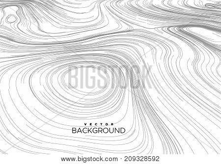 Abstract background with curled linear pattern. Vector sketch illustration of diffusion flowing curled lines. Applicable for cover, banner, poster, design.