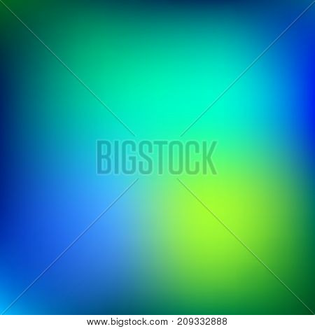 Creative vector blurred blue background. Stylized Northern Lights colors.