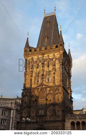The Powder Tower. Prague, Czech Republic. Architecture