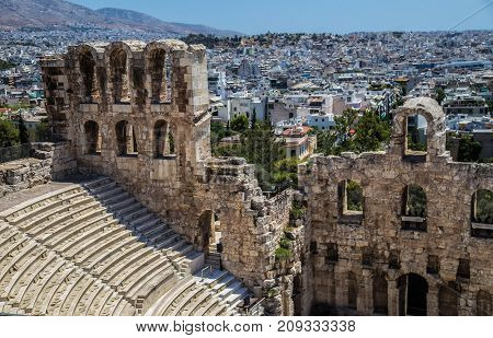 The Theatre of Dionysus Eleuthereus is a major theatre in Athens, built at the foot of the Athenian Acropolis.