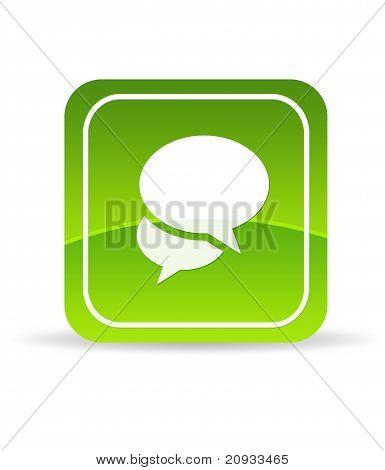 Green Social Media Icon