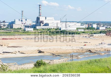 nuclear power plant construction of a new line