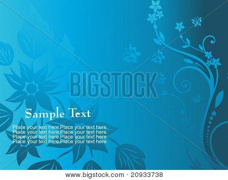 abstrakt blau blumen Hintergrund