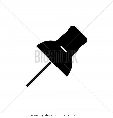 pin icon, illustration, vector sign on isolated background