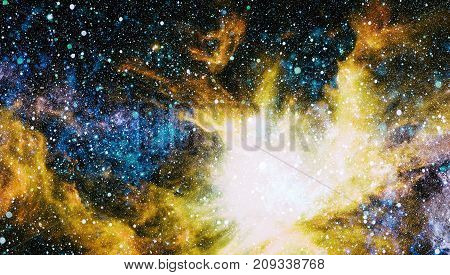 Beautiful nebula, stars and galaxies. Elements of this image furnished by NASA.