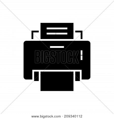 printer icon, illustration, vector sign on isolated background