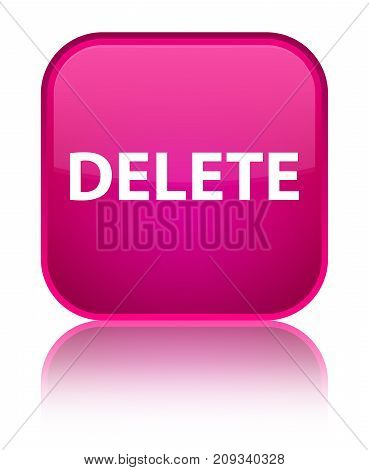 Delete Special Pink Square Button