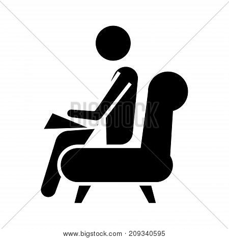 psychologist - consultant  icon, illustration, vector sign on isolated background
