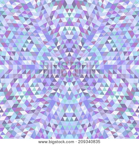Circular geometric triangle kaleidoscope mandala background - symmetrical vector pattern graphic from colored triangles