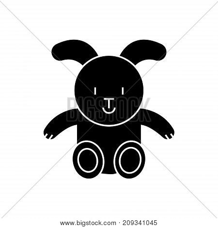 rabbit icon, illustration, vector sign on isolated background