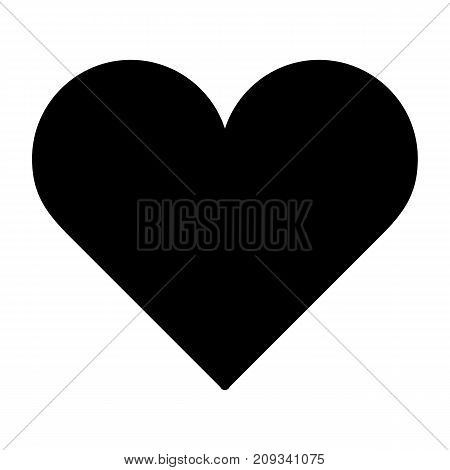 Heart Icon Vector. Love symbol. Valentine's Day sign, emblem isolated on white background. Flat style for graphic and web design, logo. EPS10 pictogram