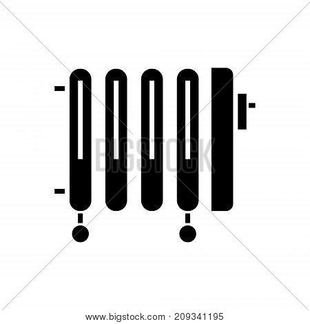 radiator - oil heater icon, illustration, vector sign on isolated background